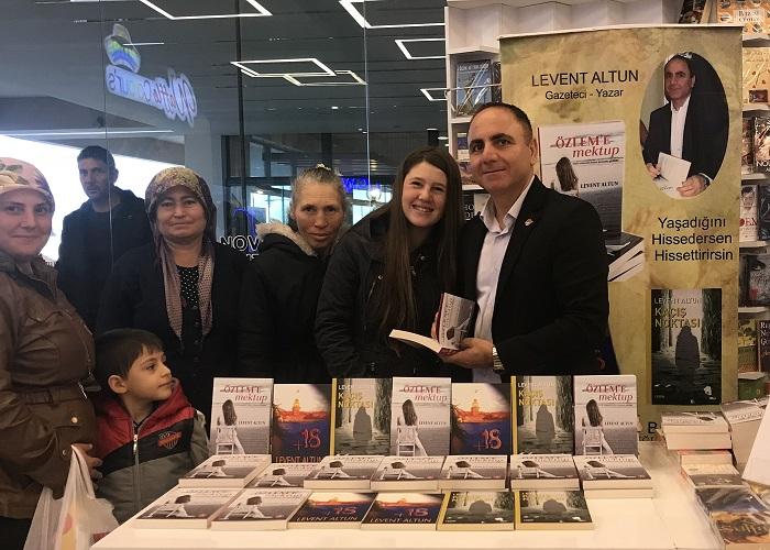 Levent Altun, Novada'da Kitabını İmzaladı