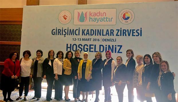 Girişimci Kadınlar Denizli'de Akhisar'ı Temsil Etti