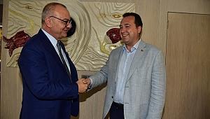 Akhisar'dan Başkan Ergün'e Ziyaret
