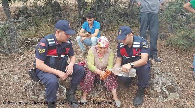 12 saat kayıp olan kadını jandarma buldu