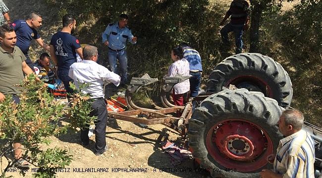 Traktör kazası 1 Ölü 1 Yaralı