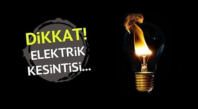 YARIN ELEKTRİK KESİNTİSİ VAR DİKKAT  !
