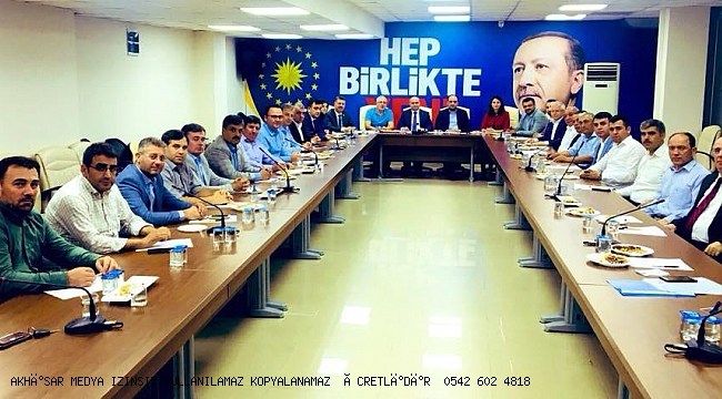 AK Parti İl Başkanlığı'nda geniş katılımlı istişare toplantısı