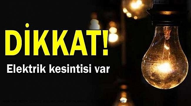 Akhisar'da  yarın elektrik kesintisi olacak  !