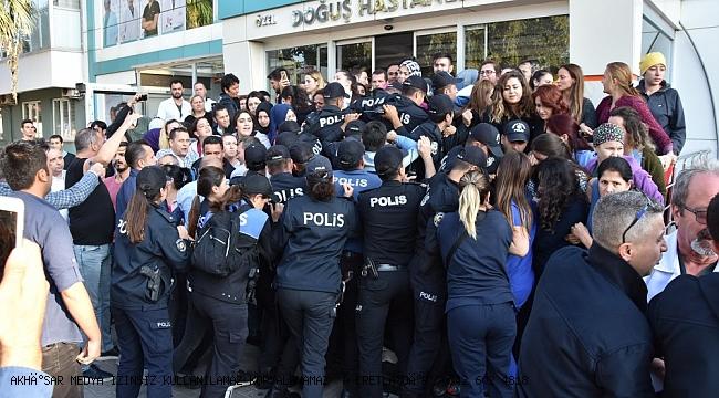 İŞÇİLER HACZİ PROTESTO EDİP MEMURLARI İÇERİ SOKMADI