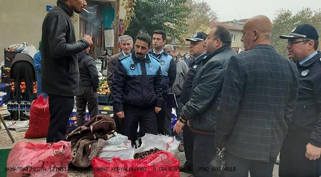 Akhisar'da Kurallara uymayan pazarcılara uyarı
