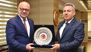 Başkan Ergün, Ağrı Valisi Elban'ı Ziyaret Etti