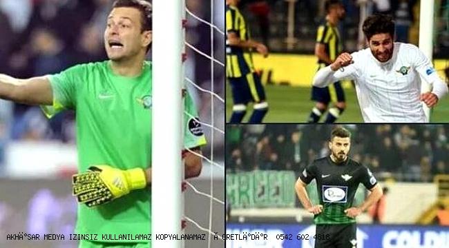 Akhisarspor'un tecrübeli 3 oyuncusu   formaya hasret kaldı