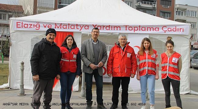 Türk Kızılay Akhisar Şubesinden  Elazığ ve Malatya için yardım Kampanyası