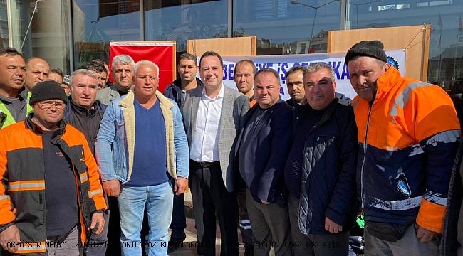 İşçi dostu Başkan Dutlulu'ya, işçiler teşekkür için pilav hayrı yaptı