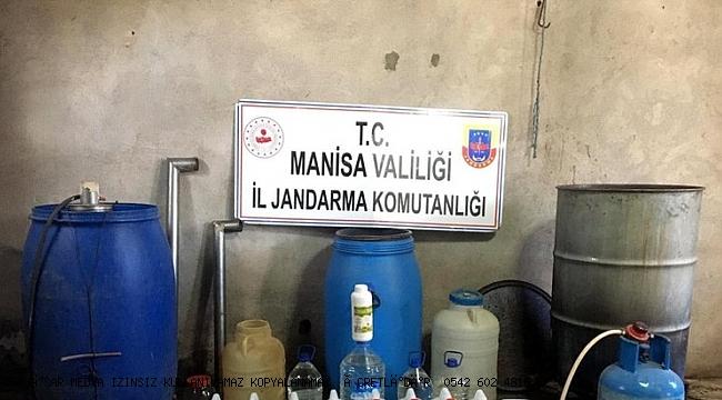 Manisa'da sahte içki ve ruhsatsız av tüfeği  yakalandı