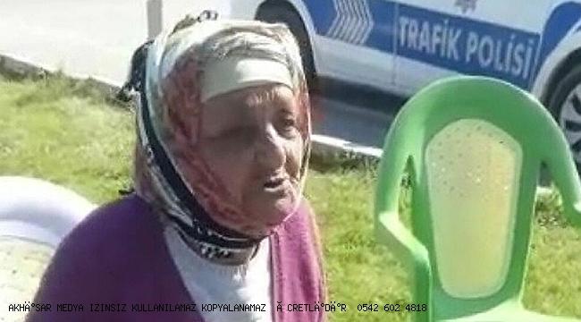 Ailesine kızan 86 yaşındaki kadın Uşak'tan Manisa'ya yürüdü