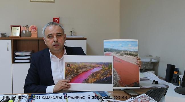 Bakırlıoğlu, kırmızı akan derenin ardından çevre felaketi çıktı!
