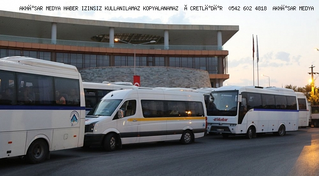 Akhisar Belediyesi'nin araçları bayramda Şehit ailelerinin hizmetinde
