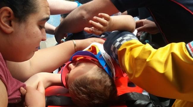 Kolunu Üzüm Makinesine Kaptıran Çocuğun Yardımına İtfaiye Koştu