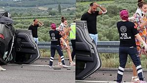 Şarkıcı Ali Şan kaza yaptı