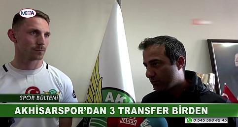 AKHİSARSPOR'DAN 3 TRANSFER BİRDEN