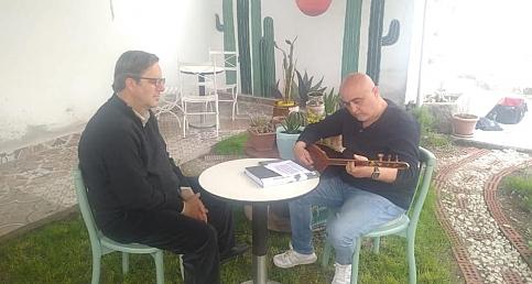 Akhisar Medya Türk Halk Müziği ve Özgün Müzik Sanatçısı Süleyman Bektaş ı Ağırladı